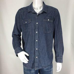 American Rag Men's Shirt Denim medium wash Size XL